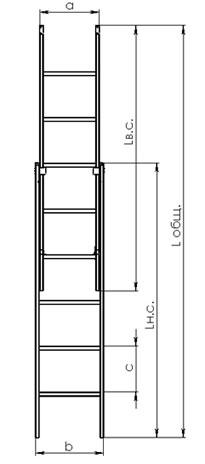 Схема диэлектрической лестницы